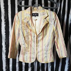 Metallic Striped Blazer